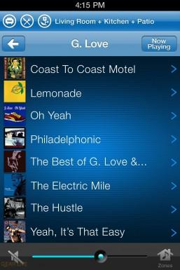 Sonos iPhone: Album View