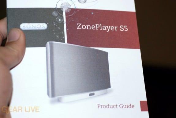 Sonos S5 instruction manual