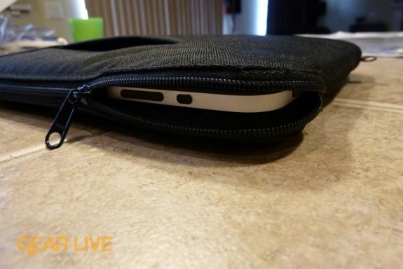 Sprint 4G Case: iPad zipped