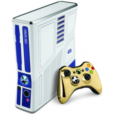 R2-D2 Xbox 360 and C-3PO controller