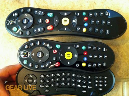 TiVo Slide remote QWERTY vs. TiVo peanut remote