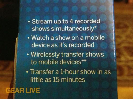 TiVo Stream feature list