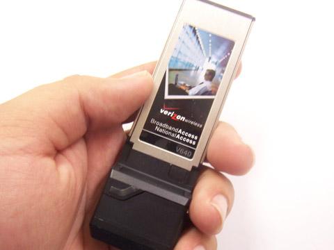 The Verizon V640 ExpressCard