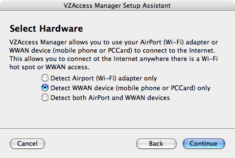 Select Hardware for VZAccess