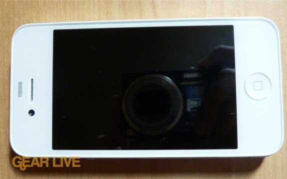 White iPhone 4 front landscape