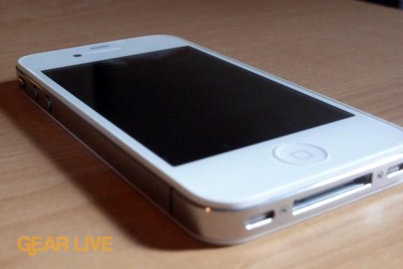 White iPhone 4 left