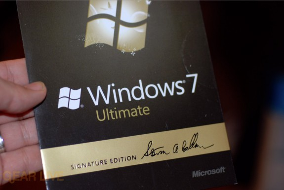 Windows 7 Steve Balmer Signature Edition