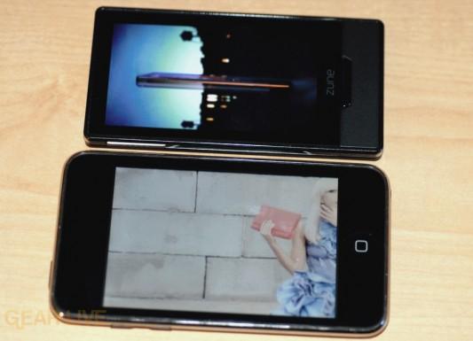 Zune HD vs. iPod touch video playing