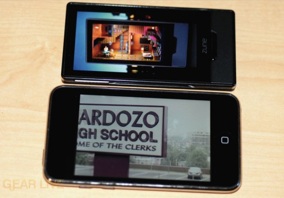 Zune HD vs. iPod touch screen comparison
