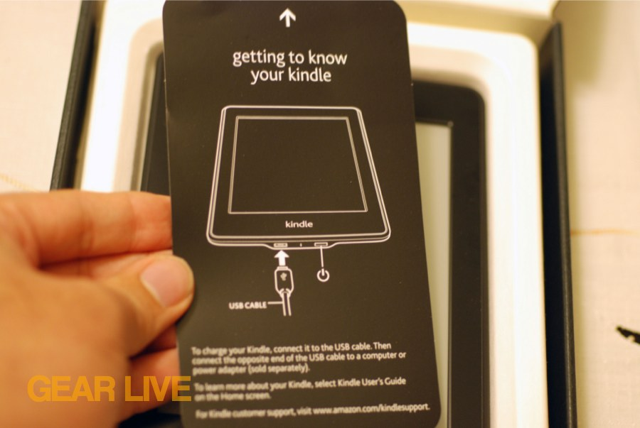 Amazon Kindle Paperwhite Unboxing Images Gallery