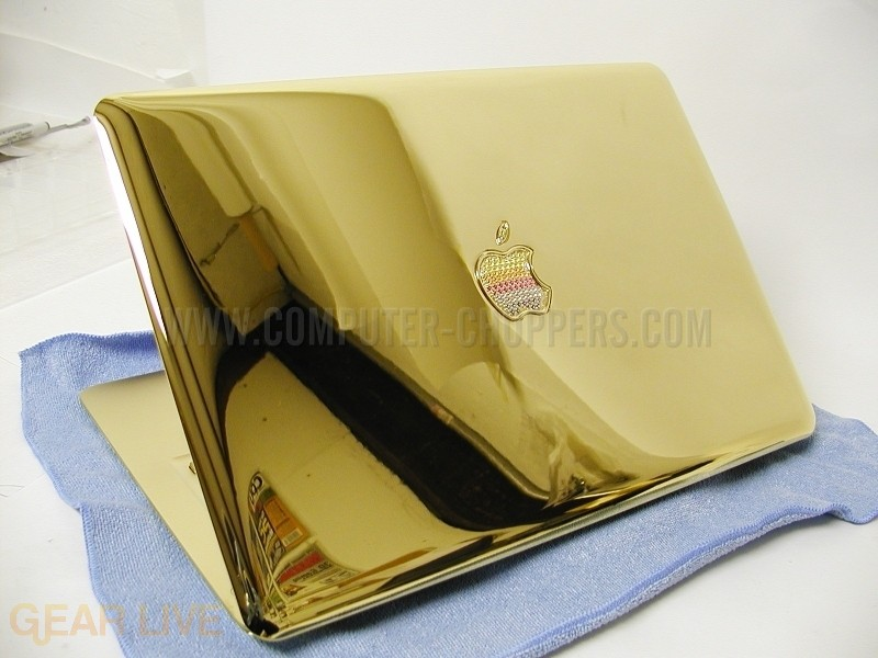 Computer Choppers 24k Gold Macbook Air