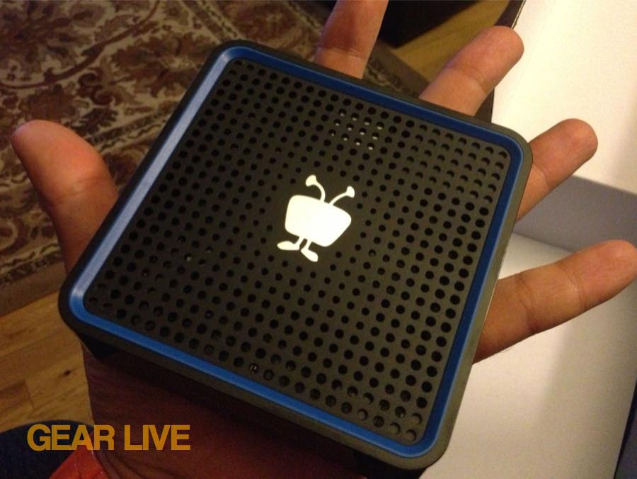 Holding the tiny TiVo Stream